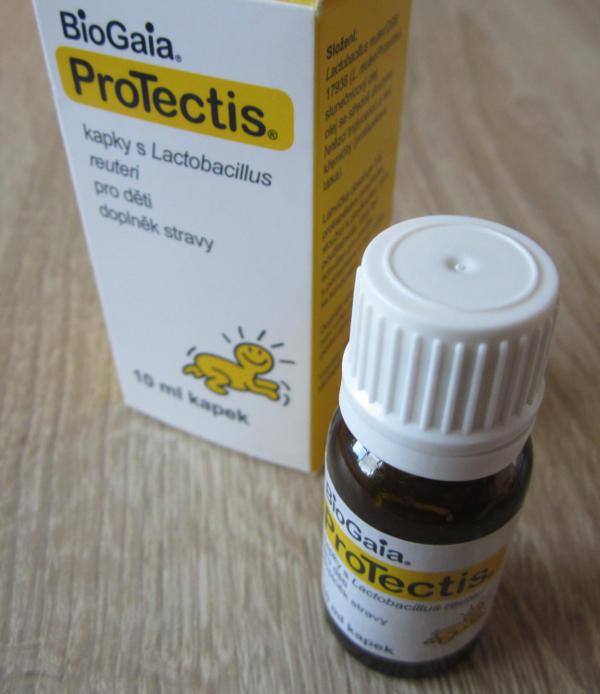 obal probiotických kapek BioGaia