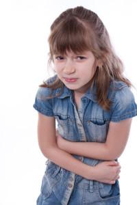 dítě trpí střevní chřipkou