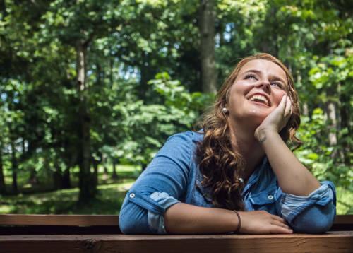 psychicky vyrovnaná a pozitivní žena
