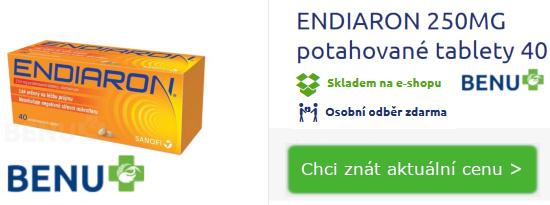 balení léku Endiaron proti průjmu 40 tablet - lékárna BENU