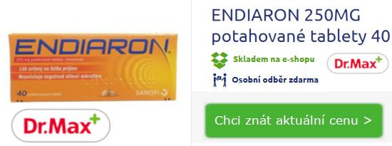 balení léku Endiaron proti průjmu 40 tablet - lékárna Dr.Max - obrázek k článku Endiaron otázky a odpovědi, užívání